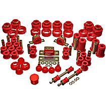 Energy Susp 3.18107R Master Bushing Kit - Red, Polyurethane, Direct Fit, Kit