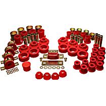 3.18108R Master Bushing Kit - Red, Polyurethane, Direct Fit, Kit