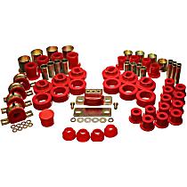 Energy Susp 3.18108R Master Bushing Kit - Red, Polyurethane, Direct Fit, Kit