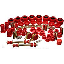 3.18128R Master Bushing Kit - Red, Polyurethane, Direct Fit, Kit