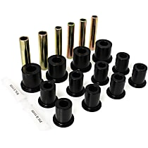 3.2105G Leaf Spring Bushing - Black, Polyurethane, Direct Fit, 2-spring-and-shackle set