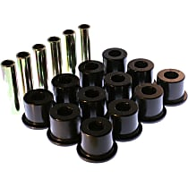 3.2106G Leaf Spring Bushing - Black, Polyurethane, Direct Fit, 2-spring-and-shackle set