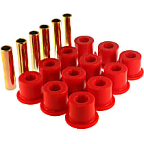 3.2106R Leaf Spring Bushing - Red, Polyurethane, Direct Fit, 2-spring-and-shackle set