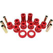 3.2129R Leaf Spring Bushing - Red, Polyurethane, Direct Fit, 2-spring-and-shackle set