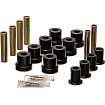 3.2131G Leaf Spring Bushing - Black, Polyurethane, Direct Fit, 2-spring-and-shackle set