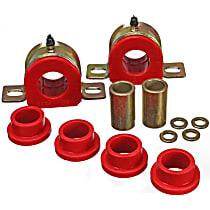 3.5180R Sway Bar Bushing - Red, Polyurethane, Direct Fit, Set of 2