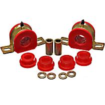 Sway Bar Bushing - Red, Polyurethane, Direct Fit, Set of 2 Rear