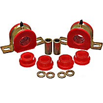 Sway Bar Bushing - Red, Polyurethane, Direct Fit, Set of 2 Rear
