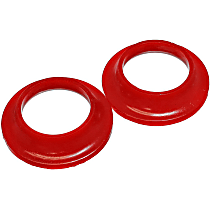 3.6110R Coil Spring Insulator - Red, Polyurethane, Direct Fit, Set of 2