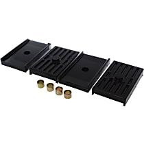 Energy Suspension 3.6112G Leaf Spring Plate Bushing - Black, Polyurethane, Direct Fit