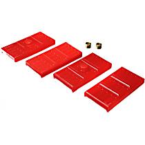 3.6113R Leaf Spring Plate Bushing - Red, Polyurethane, Direct Fit
