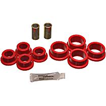 3.7108R Strut Rod Bushing - Red, Polyurethane, Direct Fit, 2-arm set