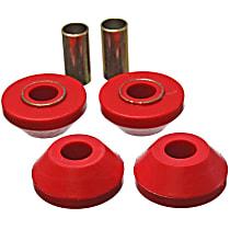 3.7109R Strut Rod Bushing - Red, Polyurethane, Direct Fit, 2-arm set