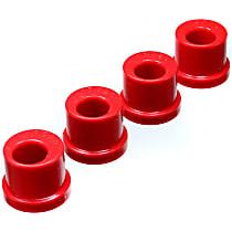 Energy Susp 4.10104R Steering Rack Bushing - Red, Polyurethane, Direct Fit, Kit