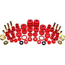 Energy Suspension 4.18101R Master Bushing Kit - Red, Polyurethane, Direct Fit, Kit