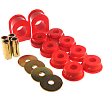 4.5186R Sway Bar Bushing - Red, Polyurethane, Greasable, Direct Fit, Set of 2