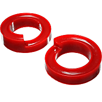 4.6111R Coil Spring Insulator - Red, Polyurethane, Direct Fit