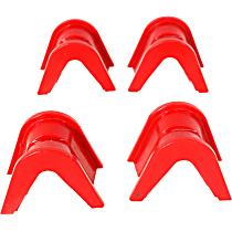 4.7101R Suspension Bushing, Polyurethane, Red, Direct Fit, Set of 4