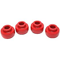 4.7107R Radius Arm Bushing - Red, Polyurethane, Direct Fit, Kit