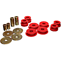 5.1108R Differential Mount Bushing - Red, Polyurethane, Direct Fit, Kit