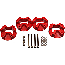 5.1109R Motor and Transmission Mount Bushing - Red, Polyurethane, Motor Mount, Direct Fit