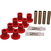 Energy Susp 5.2102R Leaf Spring Bushing - Red, Polyurethane, Direct Fit, 2-spring-and-shackle set