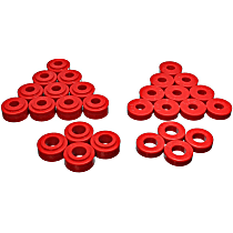 5.3134R Trailing Arm Bushing - Red, Polyurethane, Direct Fit, Set of 2