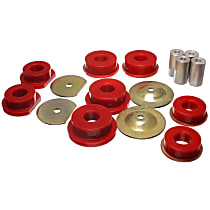 Subframe Bushing - Red, Polyurethane, Direct Fit, Kit