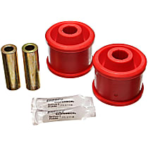 5.7115R Trailing Arm Bushing - Red, Polyurethane, Direct Fit, Set of 2