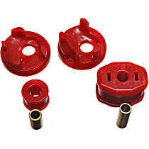 Motor and Transmission Mount Bushing - Red, Polyurethane, Motor Mount, Direct Fit Front and Rear