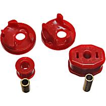 Motor and Transmission Mount Bushing - Red, Polyurethane, Motor Mount, Direct Fit