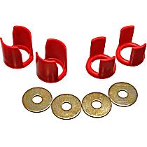 7.1113R Subframe Bushing - Red, Polyurethane, Direct Fit, Kit