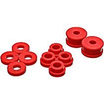 7.1115R Shifter Bushing - Red, Polyurethane, Direct Fit, Set