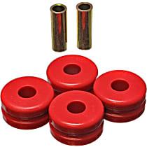 7.7102R Strut Rod Bushing - Red, Polyurethane, Direct Fit, 2-arm set