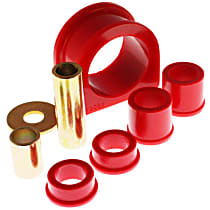 Energy Suspension 8.10103R Steering Rack Bushing - Red, Polyurethane, Direct Fit, Kit