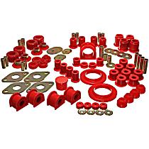 Energy Suspension 8.18104R Master Bushing Kit - Red, Polyurethane, Direct Fit, Kit