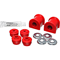 Energy Suspension 8.5136R Sway Bar Bushing - Red, Polyurethane, Greasable, Direct Fit, Set of 2