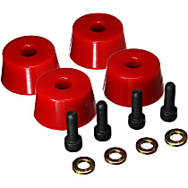 8.9103R Front Bump Stop - Red, Polyurethane, Direct Fit, Set of 4