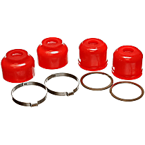 9.13136R Ball Joint Boot - Red, Polyurethane, Direct Fit