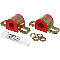 9.5124R Sway Bar Bushing - Red, Polyurethane, Universal, Set of 2