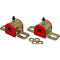 9.5161R Sway Bar Bushing - Red, Polyurethane, Universal, Set of 2