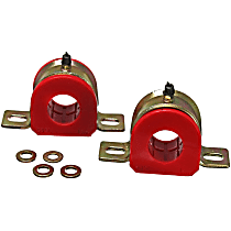 9.5173R Sway Bar Bushing - Red, Polyurethane, Universal, Set of 2