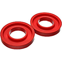 Coil Spring Insulator - Red, Polyurethane, Universal, Set of 2