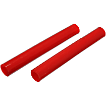 9.6112R Coil Spring Insulator - Red, Polyurethane, Universal, Set of 2