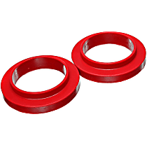 9.6120R Coil Spring Insulator - Red, Polyurethane, Universal, Set of 2