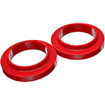 Energy Susp 9.6120R Coil Spring Insulator - Red, Polyurethane, Universal, Set of 2
