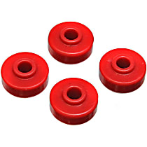 9.8126R Shock Bushing - Red, Polyurethane, 1-Piece, Universal, Set of 4