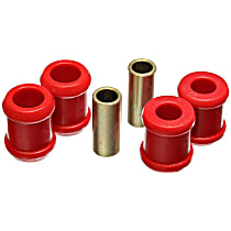9.8138R Shock Bushing - Red, Polyurethane, 1-Piece, Direct Fit, Set of 4