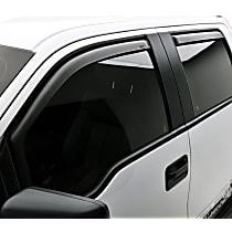 573395 Matte Black Window Visor, Front and Rear, Driver and Passenger Side - Set of 4