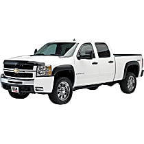 751194 Front and Rear, Driver and Passenger Side EGR Rugged Look Fender Flares, Lightly Textured Black